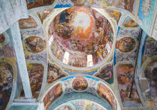 Interior painting of St. George`s church in Yuryev-Polsky royalty free stock image