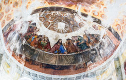 Interior painting of St. George`s church in Yuryev-Polsky royalty free stock images