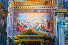 Interior paintings in Basilica of Saint John Lateran in Rome, It Royalty Free Stock Photography