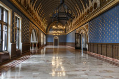 Interior of the Palace of Culture, Iasi stock photography