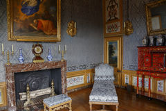 Interior of  Palace of Fontainebleau (UNESCO World Heritage List, 1981), Ile-de-France, France - shot August 2015 Royalty Free Stock Photo