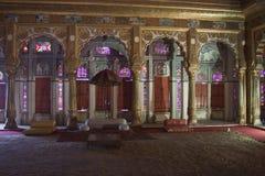 Interior of a palace in Meherangarh Fort Stock Photos