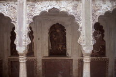 Interior of palace in Orchha Royalty Free Stock Images