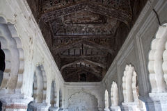 Interior of palace in Orchha Royalty Free Stock Photo