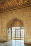 Interior of palace in red Fort in Agra Royalty Free Stock Image