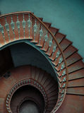 Interior of the palace with the spiral stairs Royalty Free Stock Photos