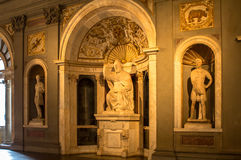 Interior in Palazzo Vecchio Old Palace Florence, Tuscany, Ital Stock Images