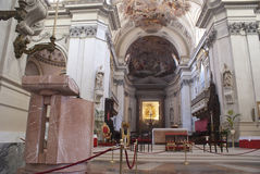 Interior of Palermo Cathedral. Sicily, Italy Royalty Free Stock Images