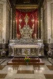Interior of Palermo cathedral, Italy Stock Images
