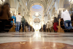 Interior of Palermo Cathedral, Sicily, Royalty Free Stock Photo