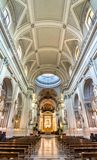 Interior of Palermo Cathedral, a UNESCO world heritage site in Italy Royalty Free Stock Photo