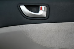 Interior panel of the car door. Close up Royalty Free Stock Photography