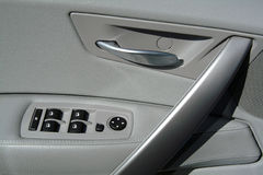Interior panel of car door. In leather Stock Images