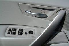 Interior panel of car door stock images