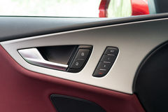 Interior panel of car door Stock Photos