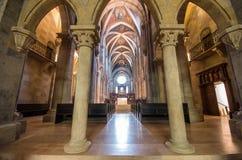 Interior of Pannonhalma basilica, Pannonhalma, Hungary stock image