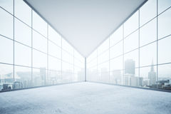 Interior with panoramic city view Royalty Free Stock Photo