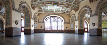 Interior panoramic view of historical Haydarpasa Train Station Royalty Free Stock Photography