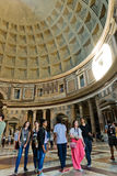 The interior of the Pantheon on June 5, 2013 in Rome, Italy Royalty Free Stock Photo