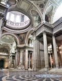 Interior of the Pantheon, Paris. The interior of the Pantheon, a church in Paris, France Royalty Free Stock Image