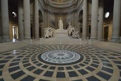 Interior of Pantheon - Paris stock image
