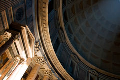 Interior of the Pantheon in Rome Stock Photo
