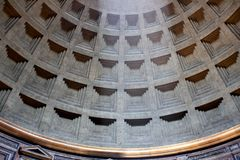 Pantheon in Rome, Italy. Interior of the Pantheon in Rome, Italy royalty free stock photo