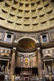 Interior of Pantheon, Rome, Italy. Interior of ceiling in Pantheon, Rome, Italy Stock Photo