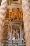 Interior of Pantheon in Rome, Italy Stock Photos