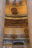 Interior of Pantheon in Rome, Italy Royalty Free Stock Photo