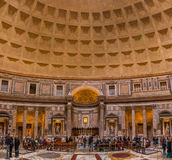 Interior of the Pantheon in Rome Italy Stock Photo