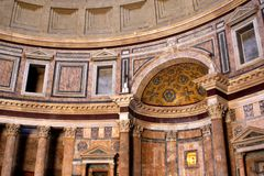 Pantheon in Rome, Italy. Interior of the Pantheon in Rome, Italy stock images