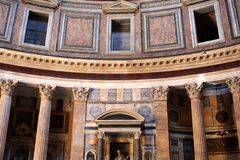 Pantheon in Rome, Italy. Interior of the Pantheon in Rome, Italy stock image
