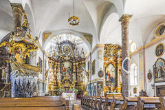 Interior of the Parish Church in Traunkirchen Stock Photography
