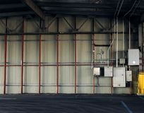 Interior parking. A shed interior parking, no cars Stock Photography