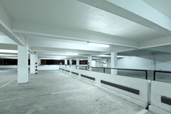 Interior of parking lot Stock Photos