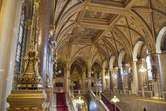 Interior of the Parliament in Budapest (Hungary) Stock Photography