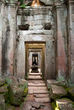 Interior passage detail, Preah Khan Temple - Siem Reap, Cambodia Stock Photography