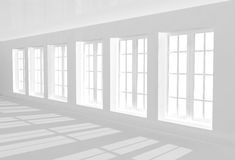 Interior of passage of white color Stock Photo