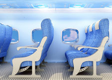 Interior passenger aircraft. Royalty Free Stock Photo