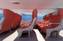 Interior passenger aircraft. Stock Image