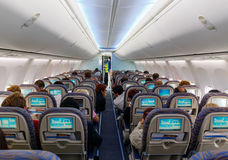 Interior of passenger aircraft Stock Image
