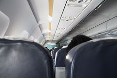Interior of passenger aircraft Stock Images