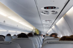 Interior of passenger airplane Royalty Free Stock Photography