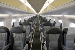 Interior of the passenger airplane Stock Photography