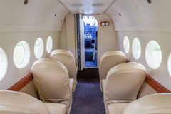 Interior of the passenger airplane Royalty Free Stock Photography