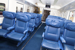 Interior of a passenger train Royalty Free Stock Images