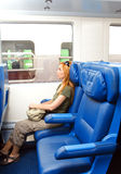 Interior of a passenger train Royalty Free Stock Photography