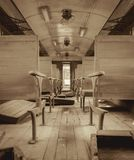 Interior of a passenger train Stock Images