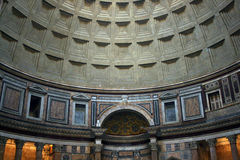 Interior of the Patheon in Rome Stock Photos